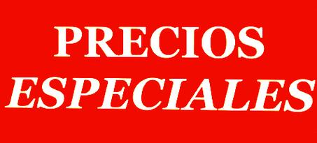Precios especiales